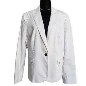 JONES NEW YORK White Career Blazer 14
